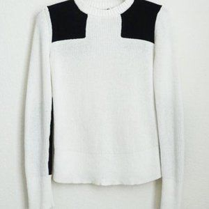 Rag & Bone Patchwork Black and White Sweater